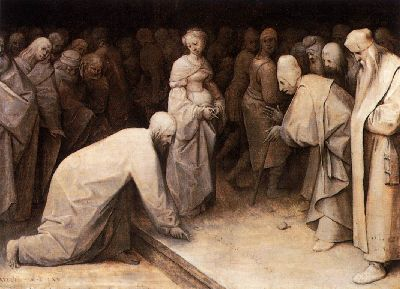 Christ and the Woman Taken in Adultery Bruegel