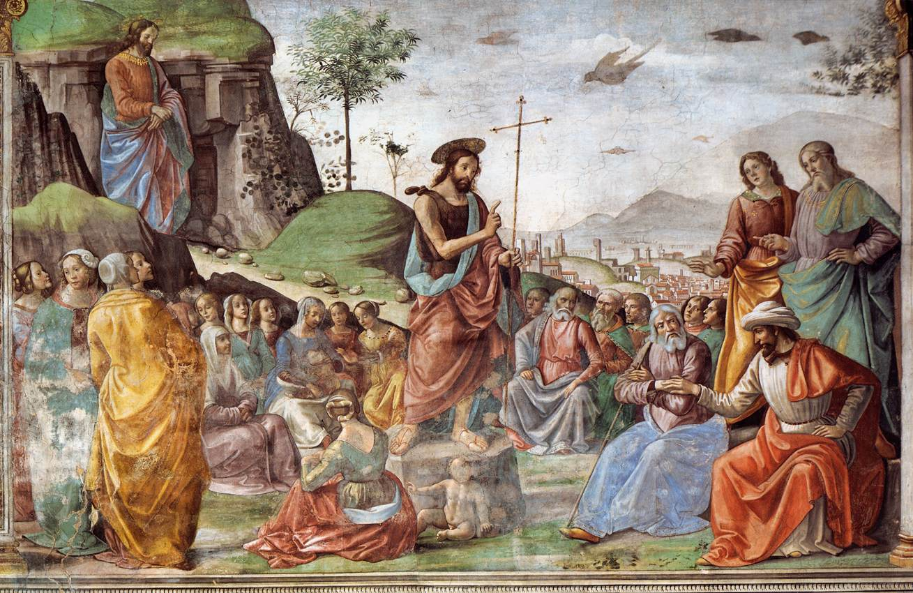 Domenico Ghirlandaio - Preaching of St John the Baptist - WGA8864