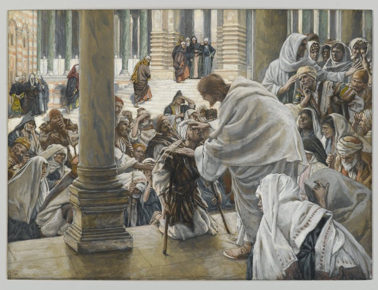 Jesus Heals the Blind and the Lame in the Temple 001